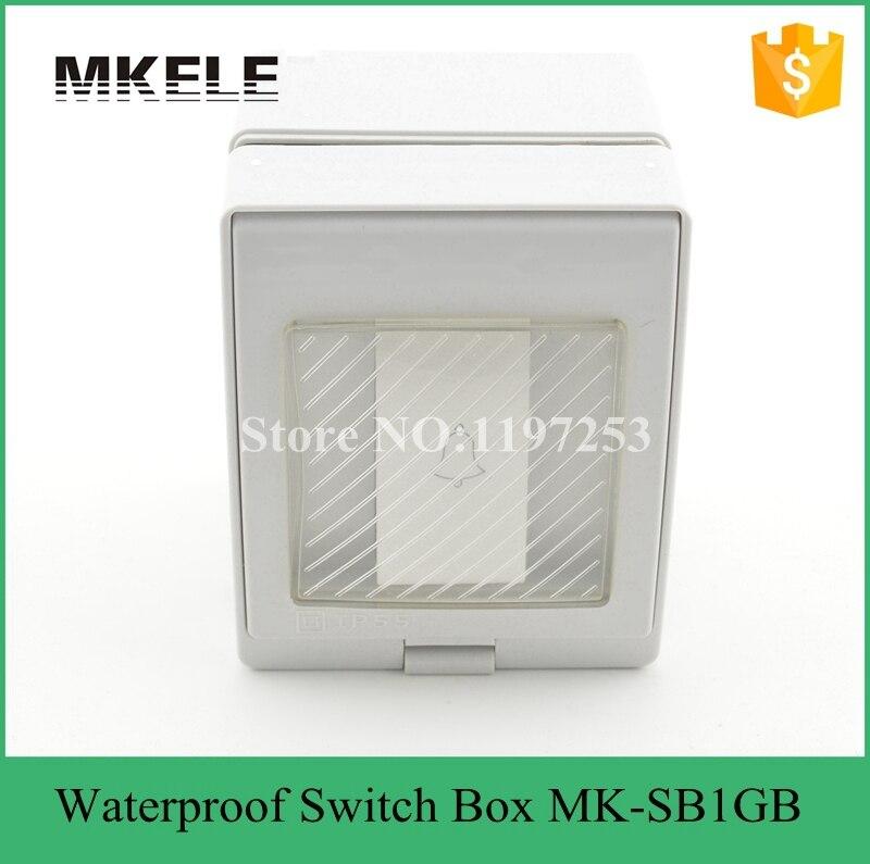 MK-SB1GB Newest high quality low price wall mount waterproof door bell switch 10A 250V waterproof 1 Gang bell push switch tengu mk 2 56 sb olive