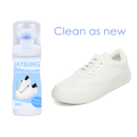 Sports Leather Canvas Shoe Whitener Cleaner Trainer Boot Clean Whitener with Brush Head XHC88