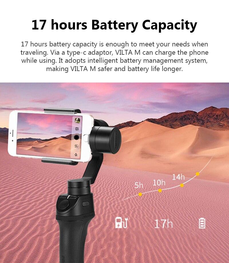 Freevision Vilta-M 3-axis Handheld Gimbal Smartphone Stabilizer for iPhone X 5 6s 8 Samsung GoPro HERO5 4 3 Yi 4K pk osmo 2 dji 11