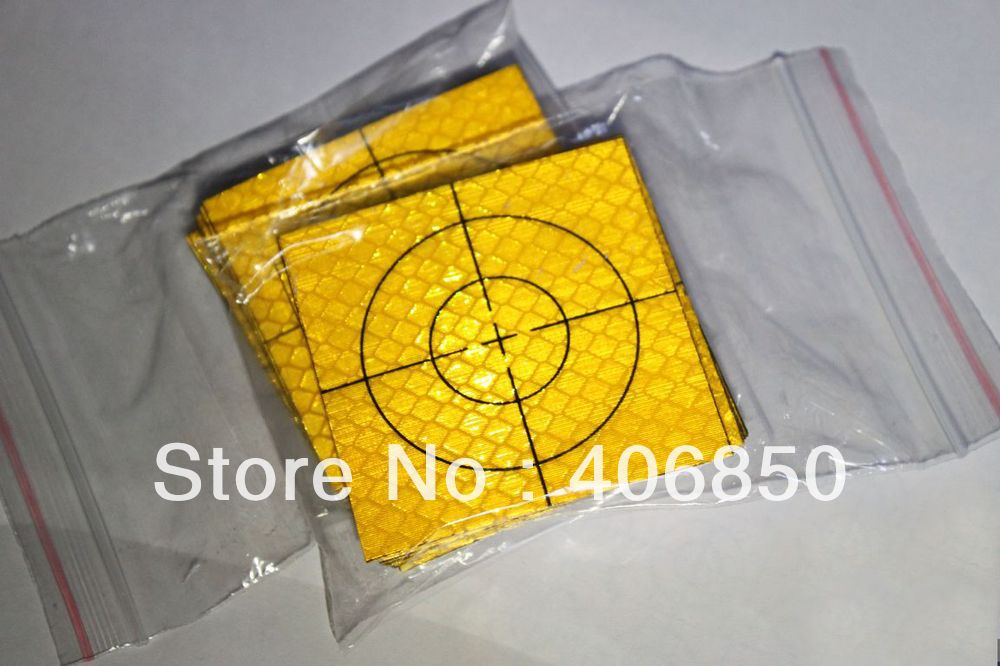 100pcs Yellow Reflector Sheet 60 x 60 mm Reflective Tape Target for Total Station new 50pcs each size reflector sheet reflective tape target for total station
