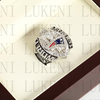 Year 2004 New England Patriots Super Bowl Championship Ring 10 13Size TOM BRADY Fans Gift With