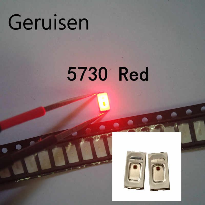 Led 5730 smd rojo x10pcs 0,2w 1,8-2,1v 620-630k