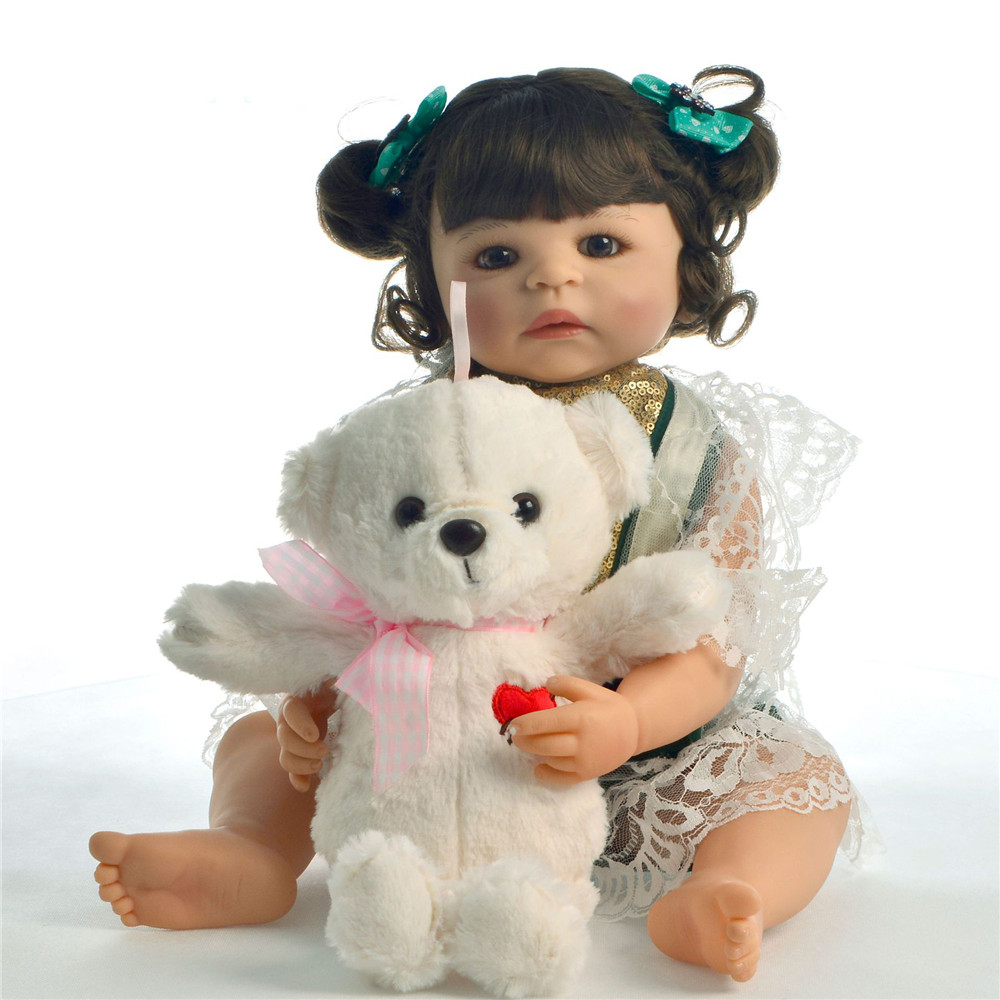 Dolls & Stuffed Toys Reborn Toddler Dolls Vinyl Newborn Princess Girl Full Silicone Baby Dolls 55cm Bebes Reborn Boneca Sexual Realista Toy Dolls Delicacies Loved By All Dolls
