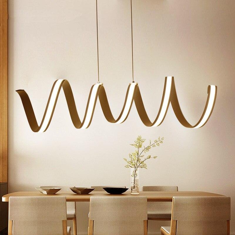 Modern aluminum LED Chandelier light for dinning room bar study room hanging chandelier lamp 85-265V lampadario Home Lighting