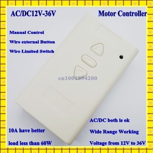 Image 2 - Interruptor de Control remoto con Motor de 12V, 24V, 36V, CA, CC, 2 canales, receptor hacia arriba y abajo, inalámbrico, función de aprendizaje