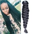 "Black Dark Auburn Brown 1 Pieces 24"" 165G/Pc Senegalese Synthetic Crochet Twist Jumbo Braiding Hair Extensions"