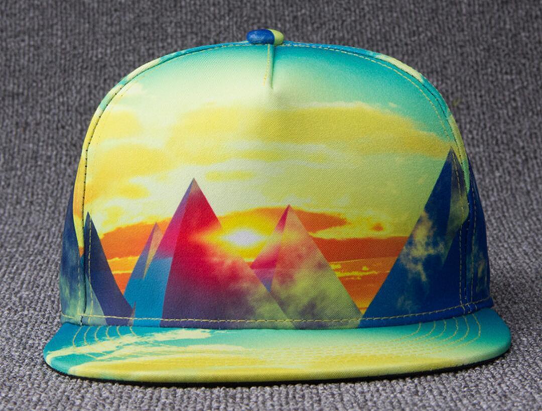 9027f12aaba 5pcs lot Wholesale Printing Flat Brimmed Snapback Hats NEW Fashion Men  Polyester Flat Bill Caps Women Baseball Hat Snapbacks Cap