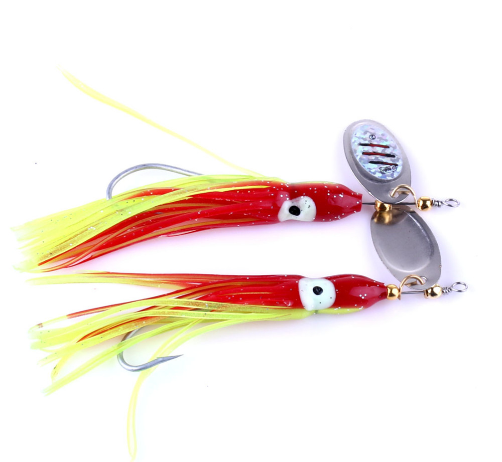 Big Sale 10pcs New Metal Spoon Fishing Lure Hard Spinner Jig Lure  Artificial Fishing Hooks Octopus Luminous Skirt Lure 7.5g-in Fishing Lures  from Sports ...