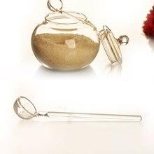 SOLEDI бытовой Кристалл 250 мл стекло Jar сахар конфеты чаша прозрачный Цилиндрический Jar прозрачных Кухня Организатор ясно