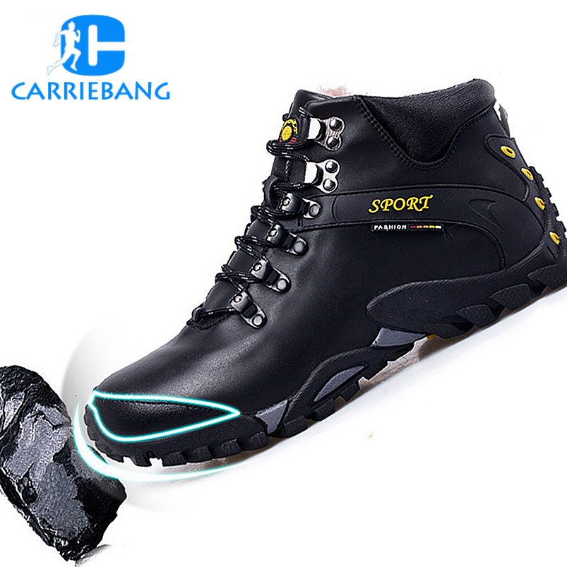 Winter Men for Camping and Hiking Boots Leather Waterproof Trekking Camping Hiking Shoe Mens Warm Tactical Outdoor Shoes