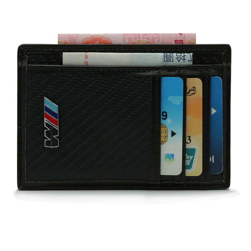 For BMW M Logo E46 E90 E91 E92 E93 F30 F31 F35 F80 F10 F01 F02 F03 F04 3 5 7 car Driver License Credit Card Bag Card Wallet