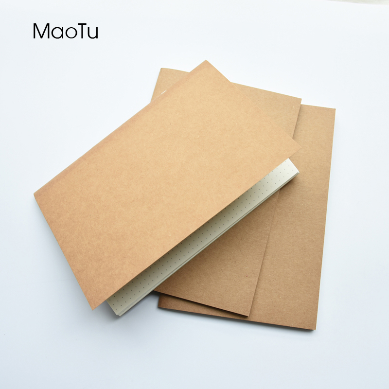 Kraft Paper Notebook Filler Paper Inserts Blank Dot Grid Notepad Diary Journal Traveler's Notebook Refill Planner Organizer soft copybook vintage rope spiral notebook pocket diary planner books travel journal notebook sketch craft blank refill paper