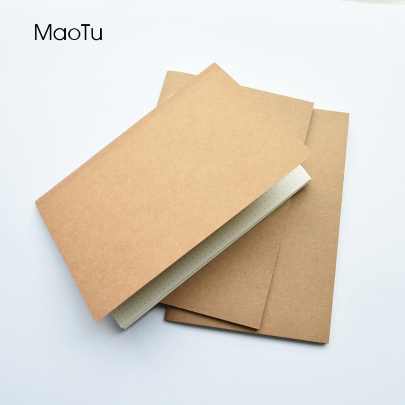 Kraft Paper Notebook Filler Paper Inserts Blank Dot Grid Notepad Diary Journal Traveler's Notebook Refill Planner Organizer