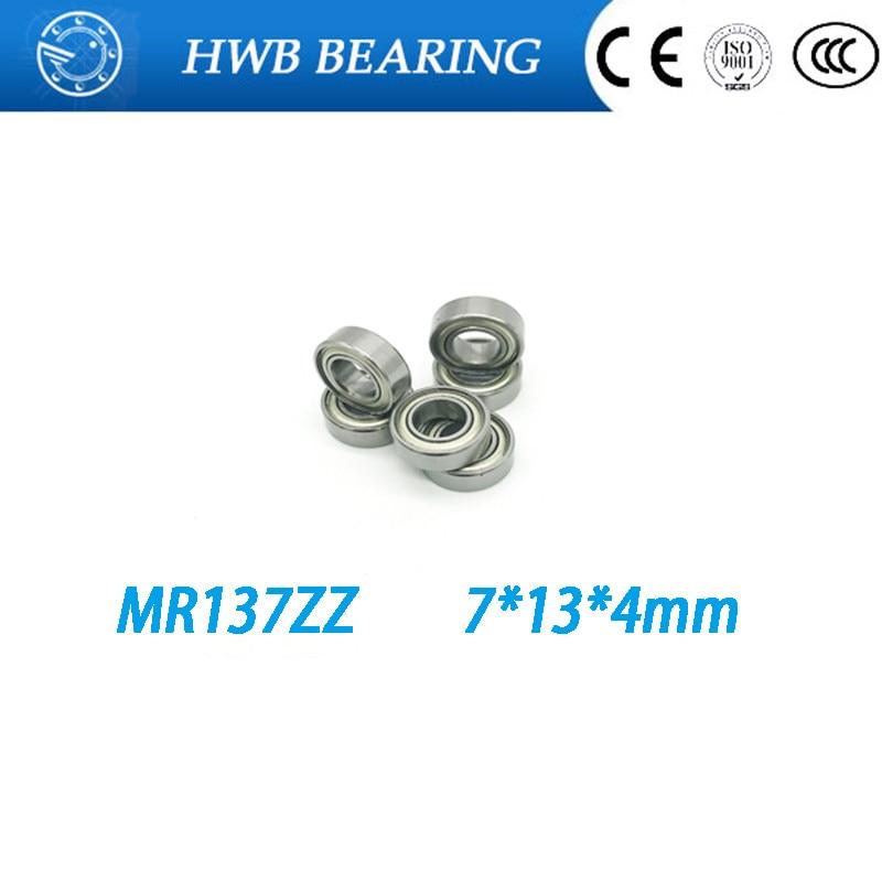 все цены на Free shipping 10pcs MR137ZZ L-1370ZZ  mr137 zz  deep groove ball bearing 7x13x4 mm miniature bearing high quality онлайн
