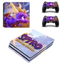 Spyro PS4 Pro Skin Sticker Sony PlayStation 4 Pro Console and Controllers for Dualshock 4 PS4 Pro Stickers Decal