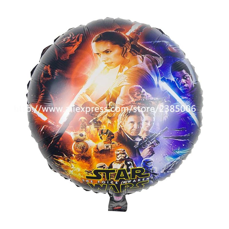 25pcs/lot New arrival star wars balloons round balloons 18 inch birthday balloon