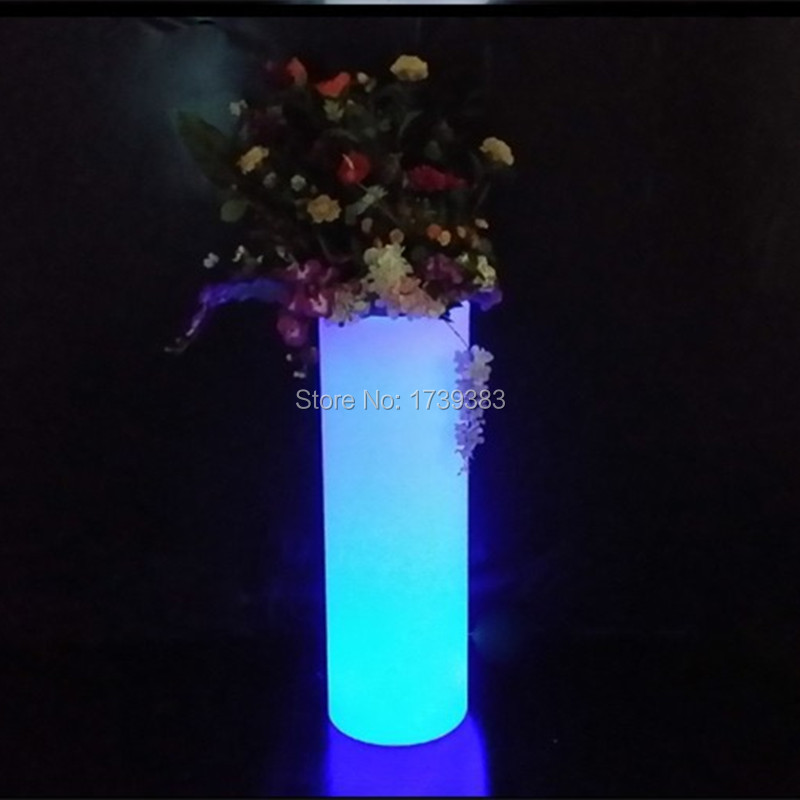 где купить Waterproof Outdoor Height 75cm multi-color illuminated Champagne Cooler LED Accu Outdoor Ice Bucket holder,LED Glow flower pot по лучшей цене