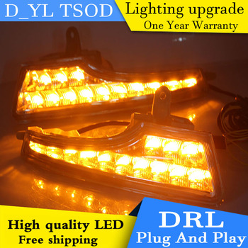 Car styling For Nissan Altima 13-16 LED DRL For led fog lamps daytime running High brightness guide LED DRL light Automobile.
