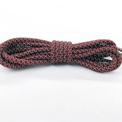 Leyou 100-160cm люминесцентная лампа кроссовки шнурки спортивные шнурки 3м Reflective круглые веревочные шнурки светлые шнурки Led - Цвет: dark red
