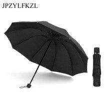 2018 Hot Sale Brand Creative for Men Rain Sun Umbrella Women tri-fold Folding 10 Bone Handle Business Womens Parapluie