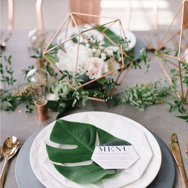 Industrial Modern Wedding Geometric Centerpieces In Party