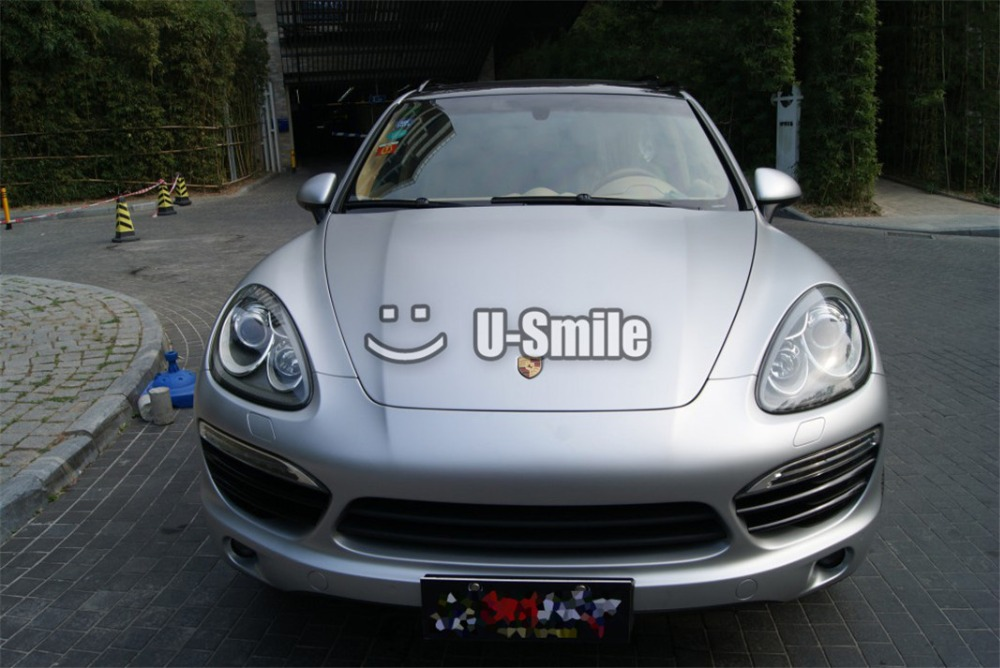 Premium Satin Matte Metallic Silver Vinyl Film Sticker Decal Bubble Free Car Wrapping