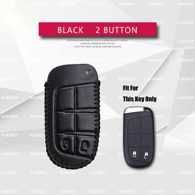Genuine Leather 2 5 On Smart Car Key Case Cover For Jeep Renegade Wrangler Grand Cherokee Comp Patriot Liberty Accesorios