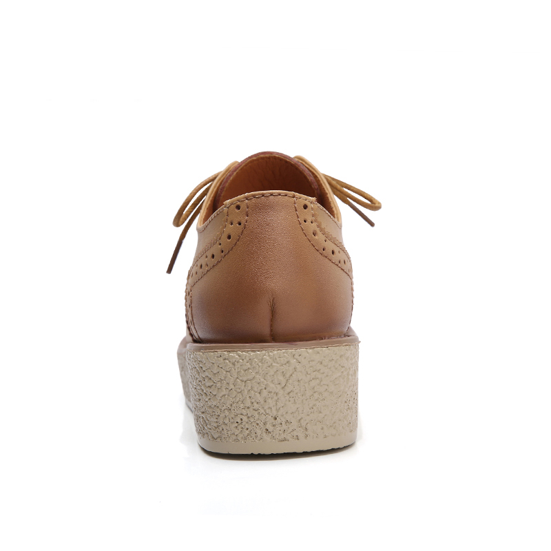 marron Bout Plate Plat Cuir En vin Talon forme Quatre Chaussures Shoese395 Rond Saisons Snurulannew Coins Femme Lacent Noir Rouge Femmes Coudre Sculptures xCqHF68Z6w