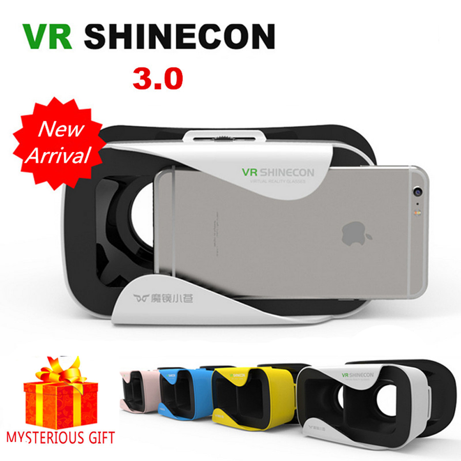 Casque VR Shinecon 3.0 Box 3 D 3D Virtual Reality Glasses Goggles Headset Helmet For Smartphone Smart Phone Google Cardboard Len