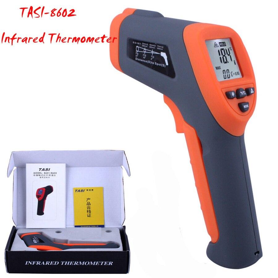TASI-8602 Infrared Thermometer -42 ~ 550 C thermometer, non-contact High Precision temperature measurement tool tasi 8606 infrared thermometer 32 380 degrees infrared thermometer non contact thermometer industrial and household