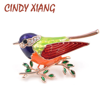 CINDY XIANG New Arrival Enamel Pins Bird Brooch Fashion Cute Animal Brooch Unisex Women Men Jewelry Colorful Style New Year Gift цена 2017