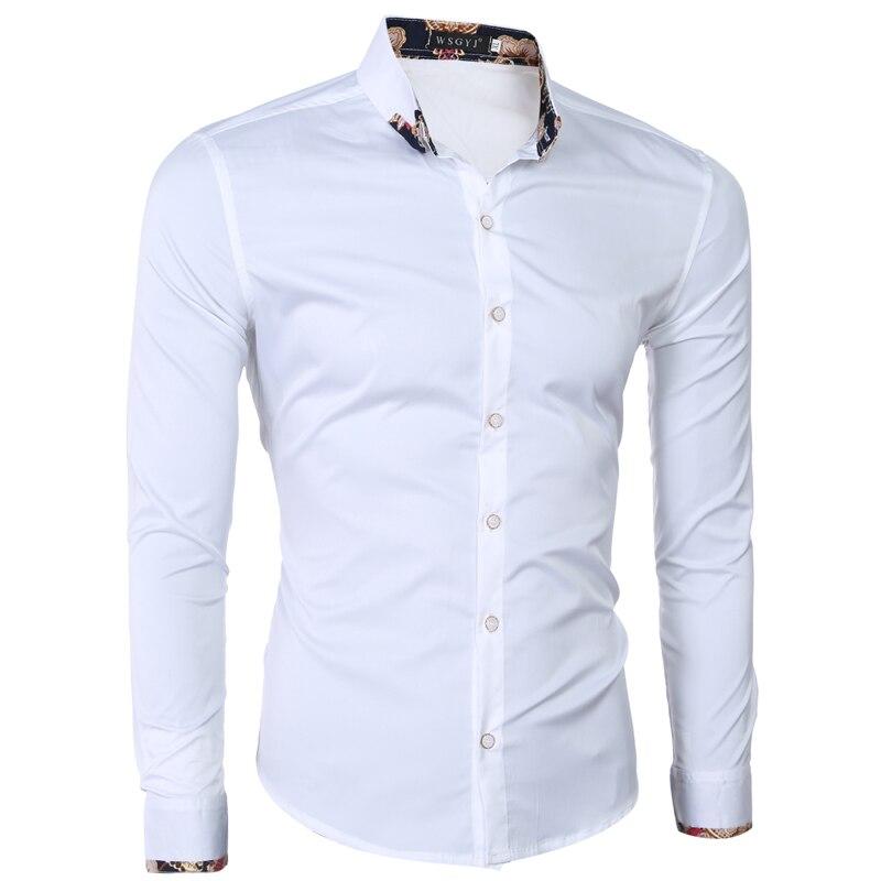 Winwinus Mens Turn Down Collar Print Long Sleeve Blouses and Tops Shirts