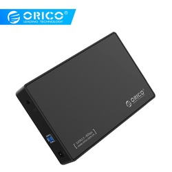 ORICO 3588US3-V1 3.5 بوصة SATA قرص صلب خارجي الضميمة ، USB 3.0 أداة مجانية ل 3.5 SATA HDD و SSD