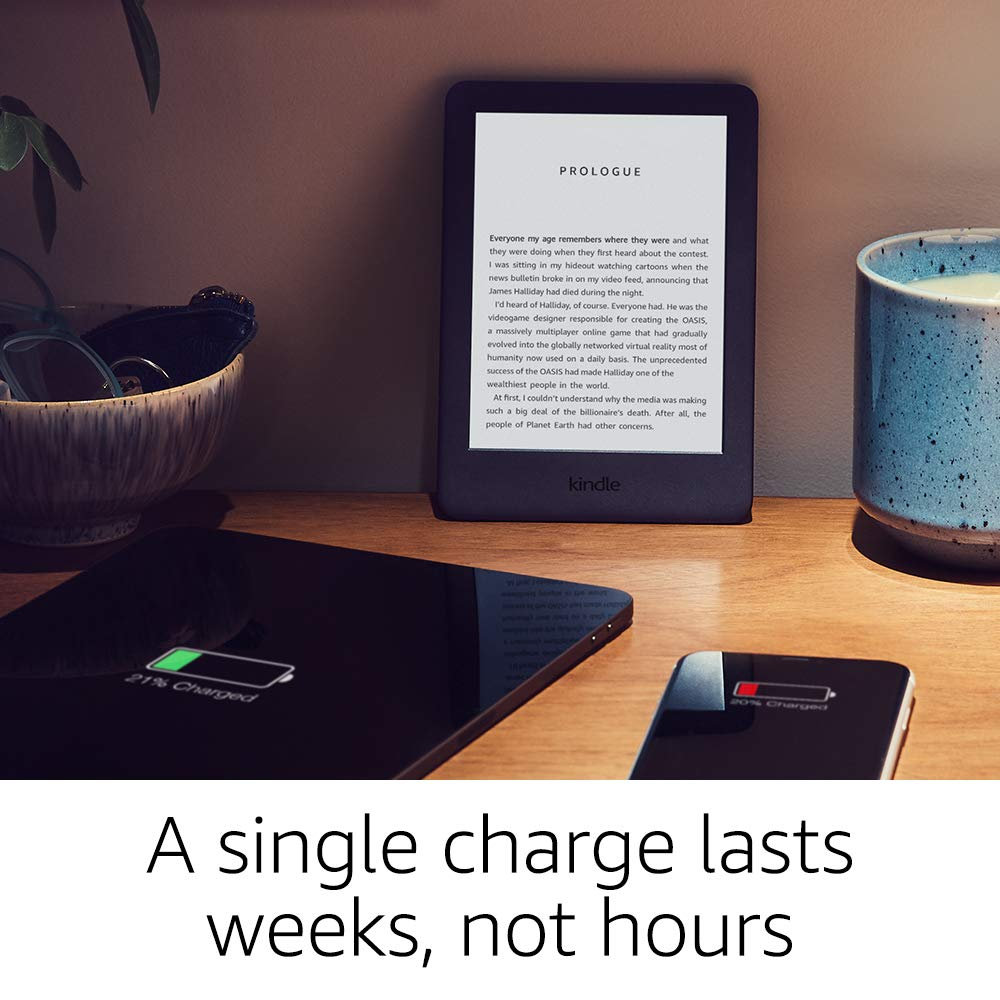 Kindle Black 2019 version écran tactile, logiciel Kindle exclusif, lecteur de livres électroniques Wi-Fi 4 GB eBook e-ink 6 pouces - 3