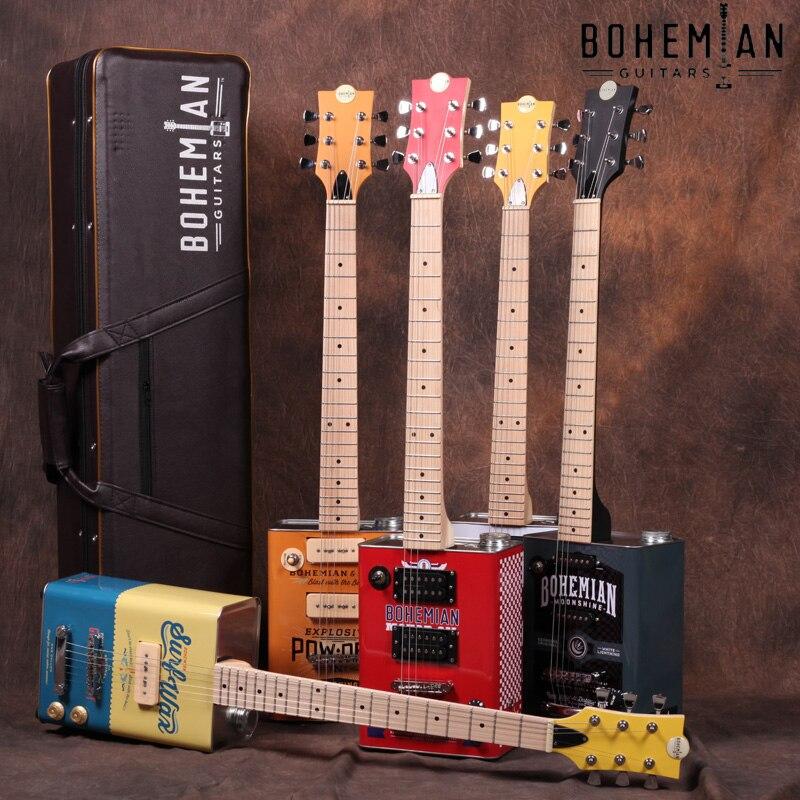 Boêmio Guitarra Guitarra Óleo Pode Guitarra Elétrica-7 Projetos Disponíveis