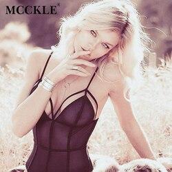 Mcckle sexy mesh bodysuit women tops black deep v neck sleeveless elegant slim lace bodycon bodysuits.jpg 250x250
