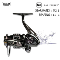 Kingdom Lure Fishing Spinning Reel Metal Spin Reel 11+1BB Model FL1500, FL2000, FL3000