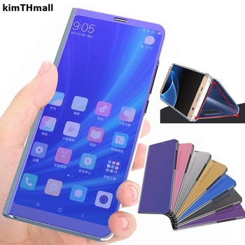 Case For Xiaomi Redmi Note 5 Pro Cover Redmi note 5 pro Global Smart Flip Window view plating Mirror Stand Hard Case kimTHmall