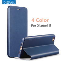 X Level Flip Stand Phone Case For Xiaomi Mi 5 Case Cover PU Leather Soft TPU
