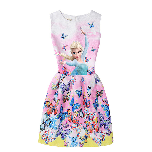 2017-Summer-Style-Girls-Elsa-Anna-Princess-Dresses-Girl-Butterfly-Printed-Sleeveless-Formal-Girl-Dresses-Teenagers-Party-Dress-5