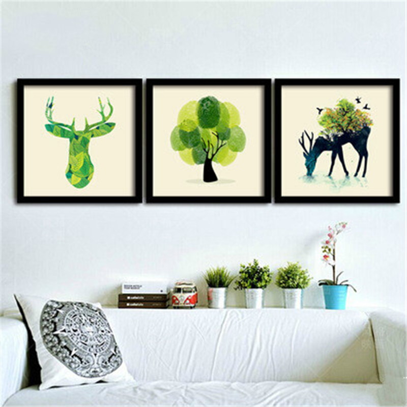 Framed Living Room Modern Animal Deer Decoration Paint Creative Personality  Wall Art Painting Picture On Canvas Abstract Mural In Painting U0026  Calligraphy ...