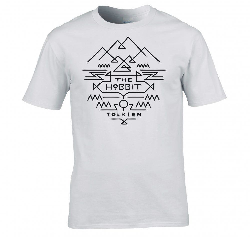 2018 Tshirt Homme Tees Lord Of The Rings/ The Hobbit Tolkien Azteca Camiseta Men Summer  ...