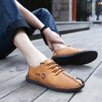 Leather Shoes Men Loafers Mocassim Men Casual Shoes Italian Brands Luxury Oxford Shoes For Men Fltas