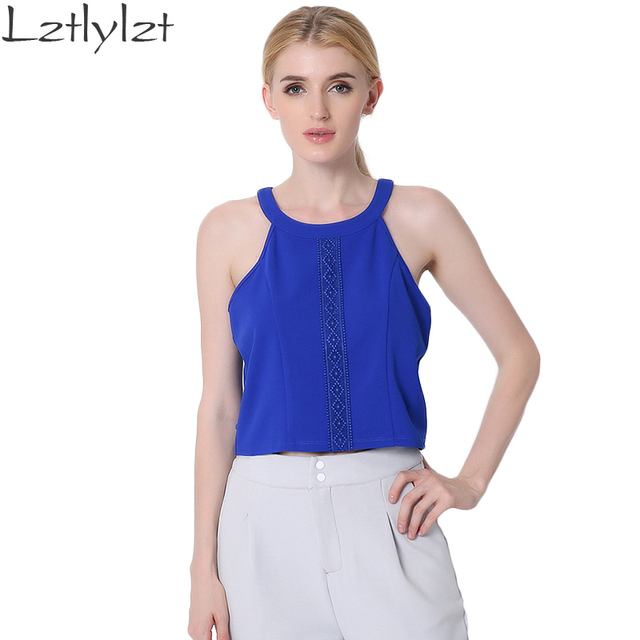 Sleeveless Backless Shirts