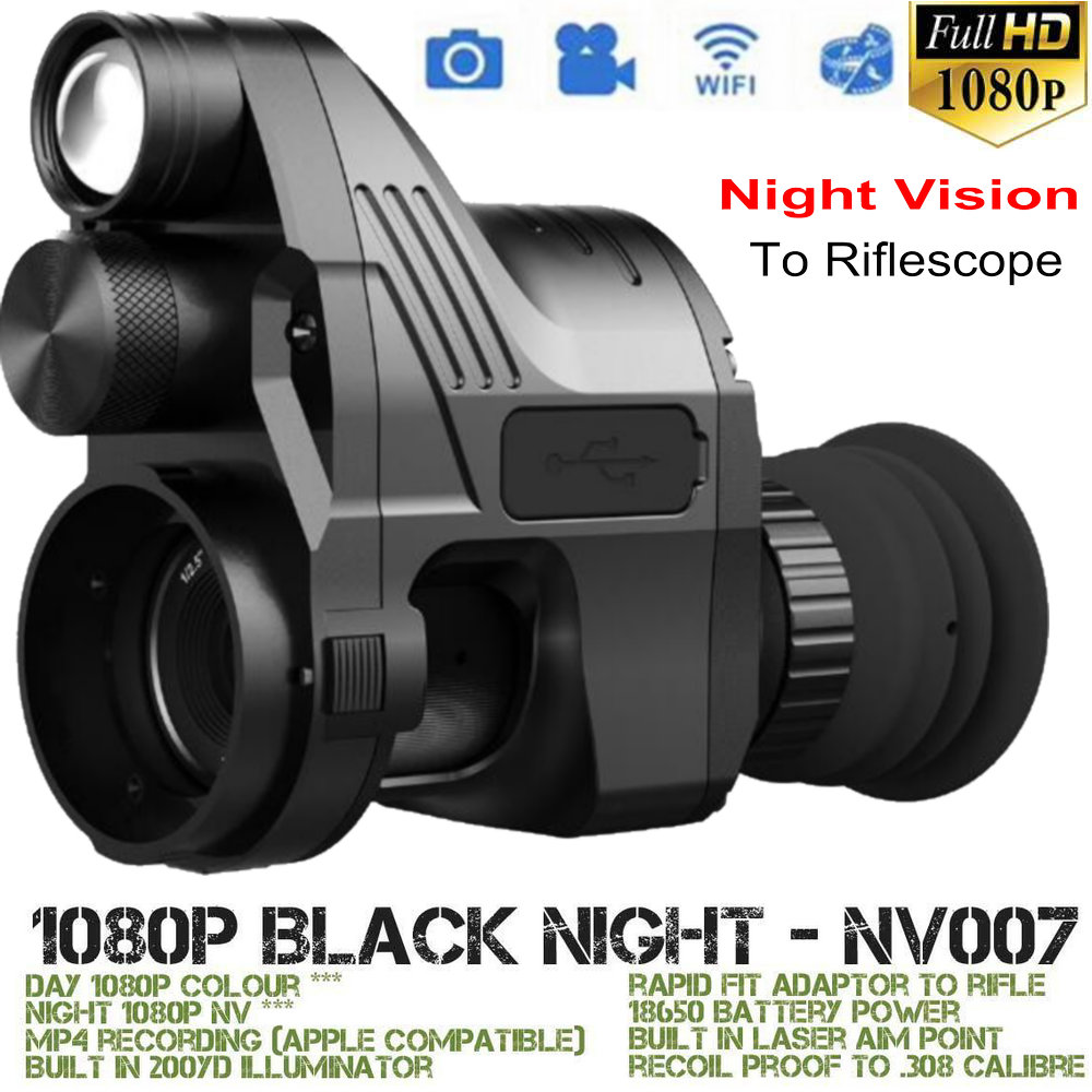 PARD NV007 lunette de vision nocturne monoculaire IR Nuit Vision tactique Fusil Portée Caméra Wifi jour nuit Trail chasse Télescope