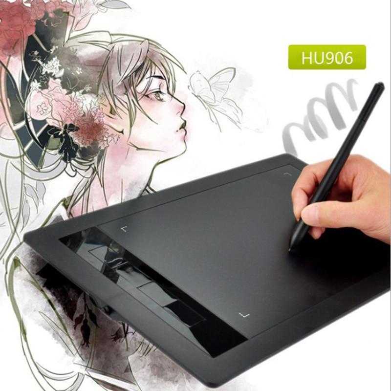 HU906 10*6 Pollici Tavoletta Grafica 8192 Livelli Compresse Digitale Tavolo Da Disegno Tablet Non C' è bisogno di carica Pen Tablet