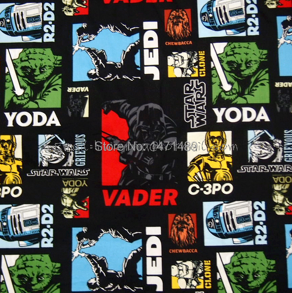 hand embroidered Disney R2D2 Darth Vader Blue reversible 2 cotton fabric Star Wars Placemats C3PO Classic Starwars