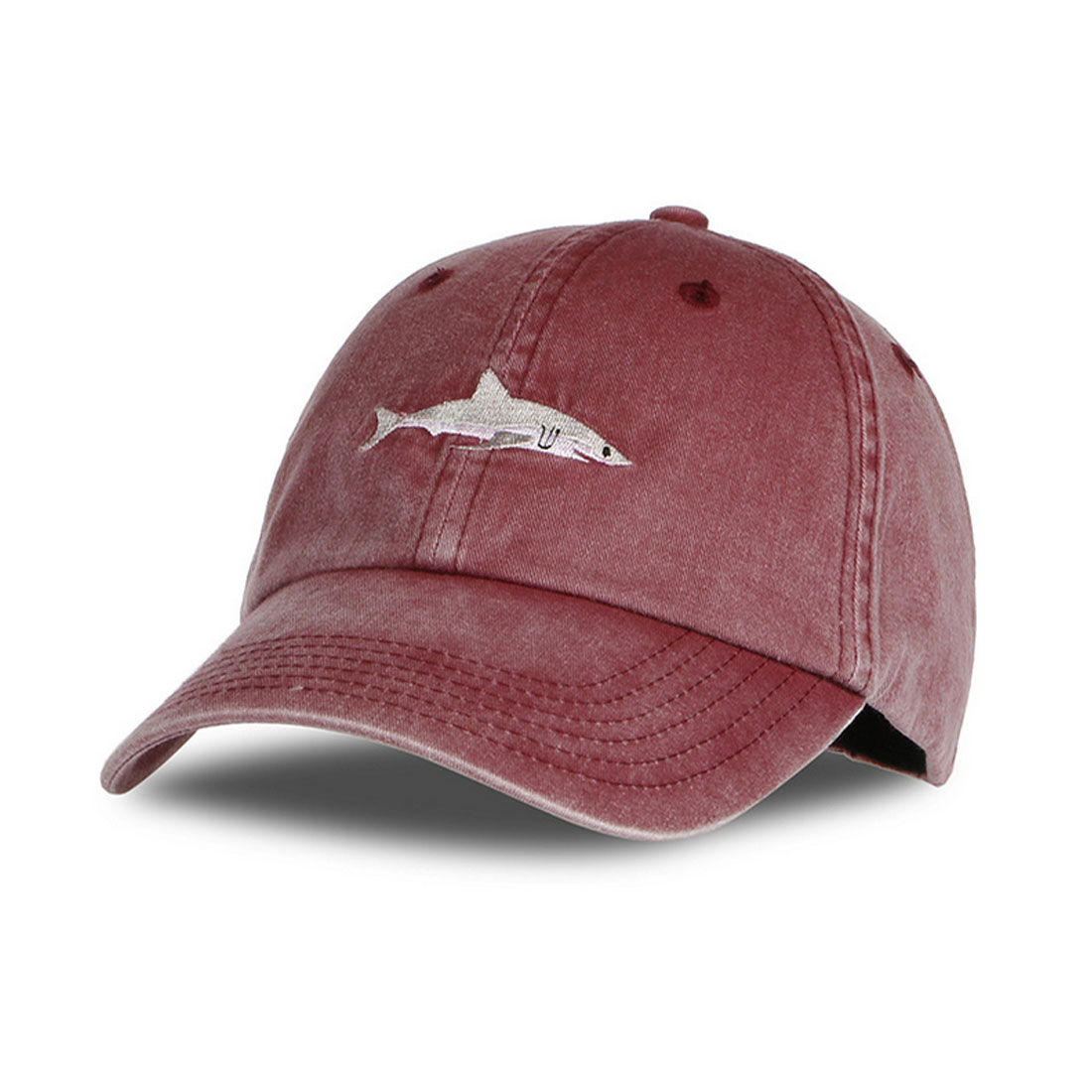 Hot Men Women Snapback Hat Dad Hat Washed Casquette Baseball Caps Pink Shark Embroidery Hat For Women Gorras Golf Sport