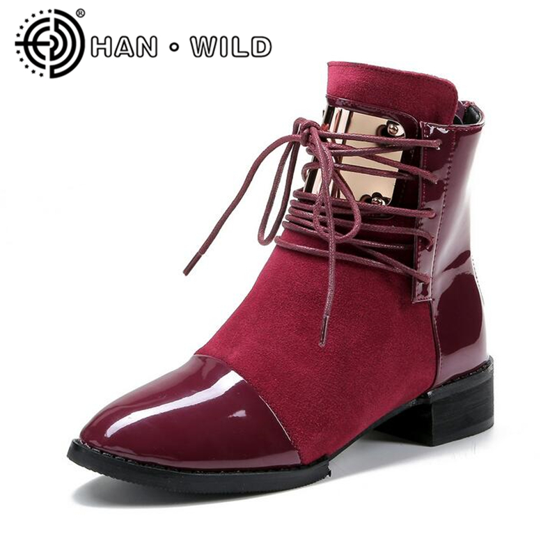 Fashion Boots Women Shoes 2018 New Genuine Leather Martin Boots Pointed Toe Motorcycle Boots Ladies Ankle Boots Plus Size size 34 43 2016 fashion women s ankle boots black motorcycle pu leather boots solid pointed toe martin boots autumn shoes