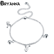 Bryanna New Fashion Foot jewelry Silver plated Guitar anklets nice gift for women girl Beach ankle Bracelets jewelry LKNSPCA068
